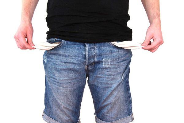 Emprendedor cuenta bancaria en coma